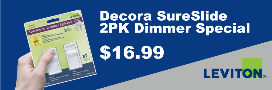 Leviton SureSlide Dimmer 2 Pack Special - $16.99