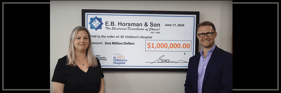 $1Million Cumulative Donation to BC Children's Hospital Foundation