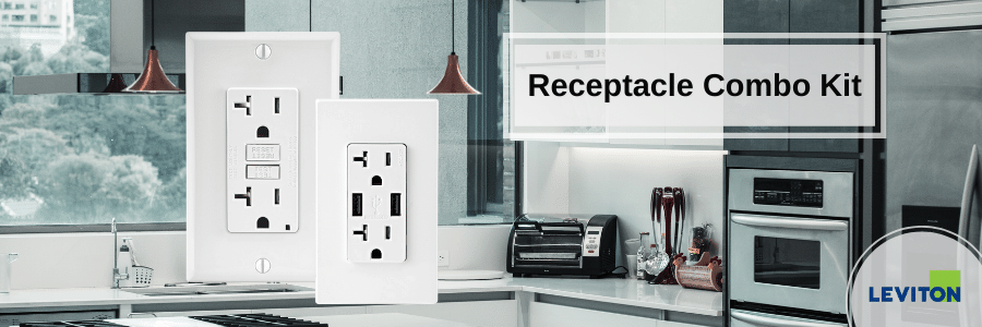 Leviton Receptacle Combo Kit Special - $31.99